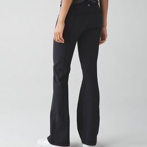 LULULEMON Groove III Black Luon Yoga Pants 6 R